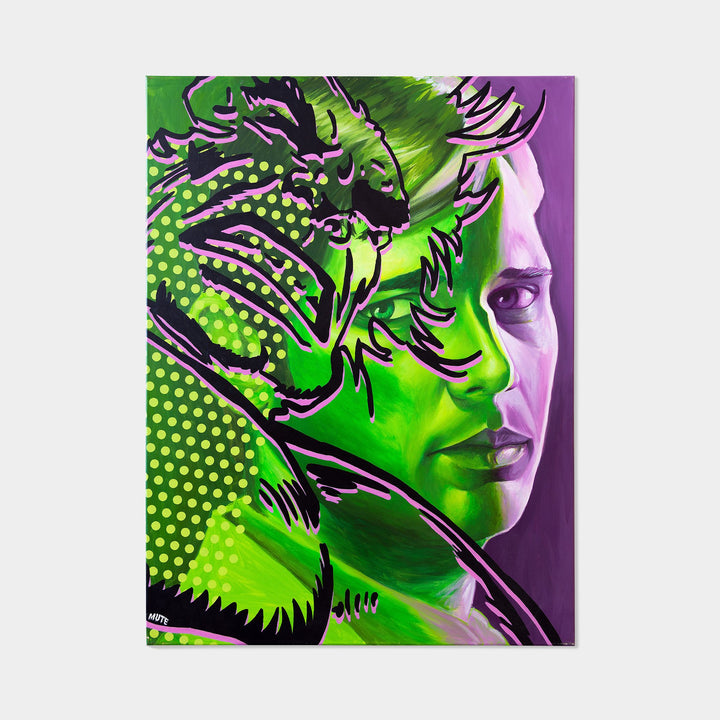 Bruce Banner is Incredible Hulk Original Oil Painting By MUTE - worldofsuperheroesuk