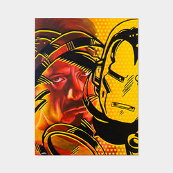 Tony Stark is Iron Man Oil Painting By MUTE - worldofsuperheroesuk