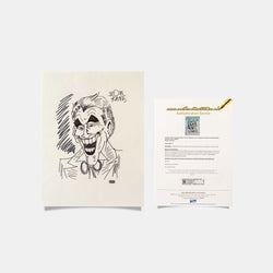Joker Large Sketch Signed by Bob Kane - worldofsuperheroesuk