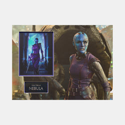 Guardians of the Galaxy: Framed A4 Nebula Photo Signed by Karen Gillan - worldofsuperheroesuk