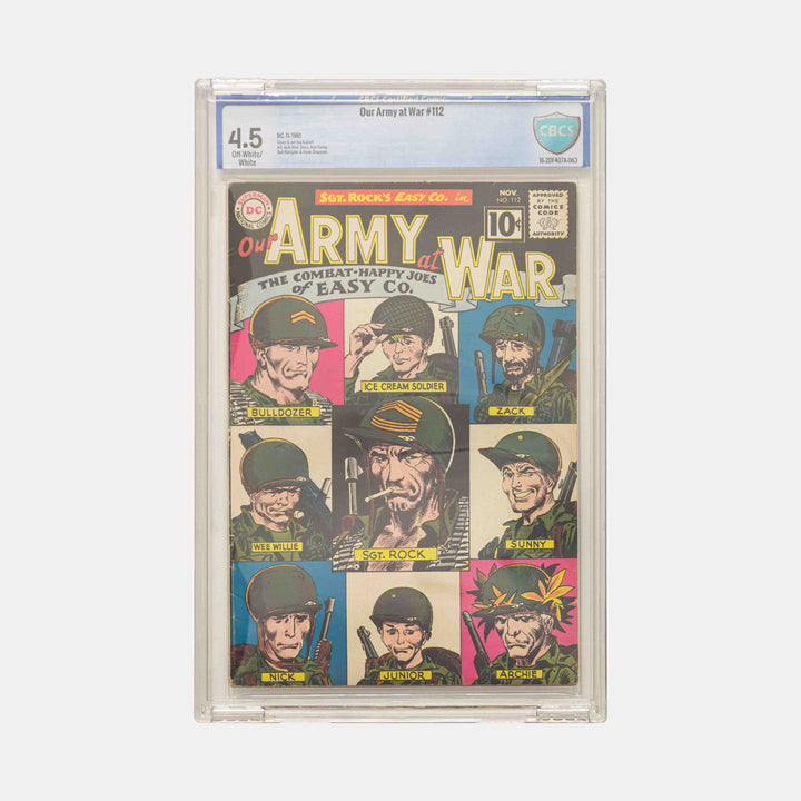 Our Army at War #112 Slabbed CGC 4.5
