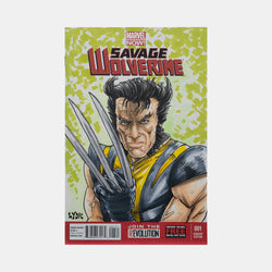 Savage Wolverine Sketch Cover Original Art Framed by Steve Lydic