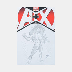 She Hulk By Johndell Snead Sketch Cover - worldofsuperheroesuk