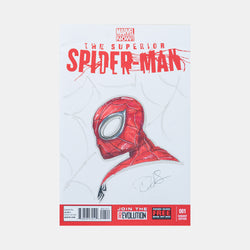 The Superior Spider-Man by Danny Hass Sketch Cover - worldofsuperheroesuk