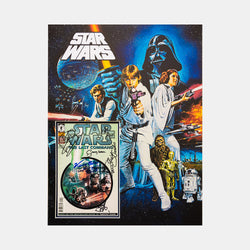 Star Wars: Star Wars Comic Signed By Kenny Baker, David Prowse, Jeremy Bullock, Warwick Davies, Paul Blake, Alan Harris, Julian Glover And Rusty Goffe Framed