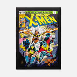 Stan Lee Signed: The Uncanny X-Men 126 Box Canvas Framed - worldofsuperheroesuk