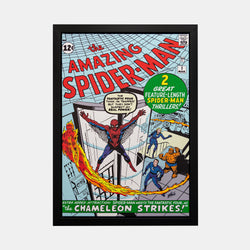 Stan Lee Signed: The Amazing Spider-Man #1 Spider-Man Meets The Fantastic Four! Box Canvas Framed - worldofsuperheroesuk