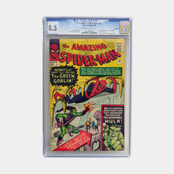 Amazing Spider-man #14 1964  - First appearance of Green Goblin and first meeting of Hulk and Spider-Man - CBC 8.5 - worldofsuperheroesuk