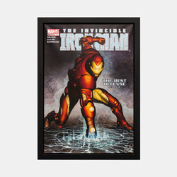 Stan Lee Signed: The Invincible Ironman #421 The Best Defense Box Canvas Framed - worldofsuperheroesuk