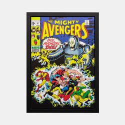 Stan Lee Signed: The Mighty Avengers #67 Die, Avengers Die! Box Canvas Framed - worldofsuperheroesuk