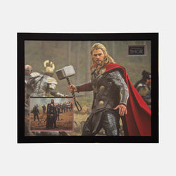 Thor Photograph Signed By Chris Hemsworth Framed - worldofsuperheroesuk
