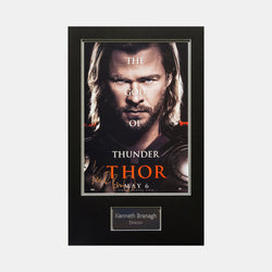 Thor: Framed Movie Promo Card Signed By Kenneth Branagh - worldofsuperheroesuk