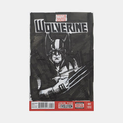 Wolverine Sketch Cover Original Art Framed by Andres Manuel Labrada