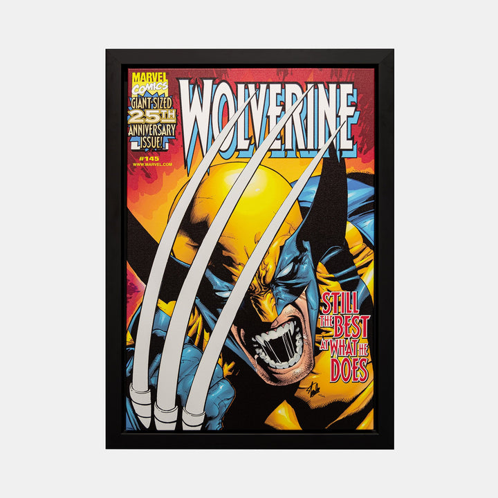 Stan Lee Signed: Wolverine #145 Still The Best At What He Does Box Canvas Framed - worldofsuperheroesuk