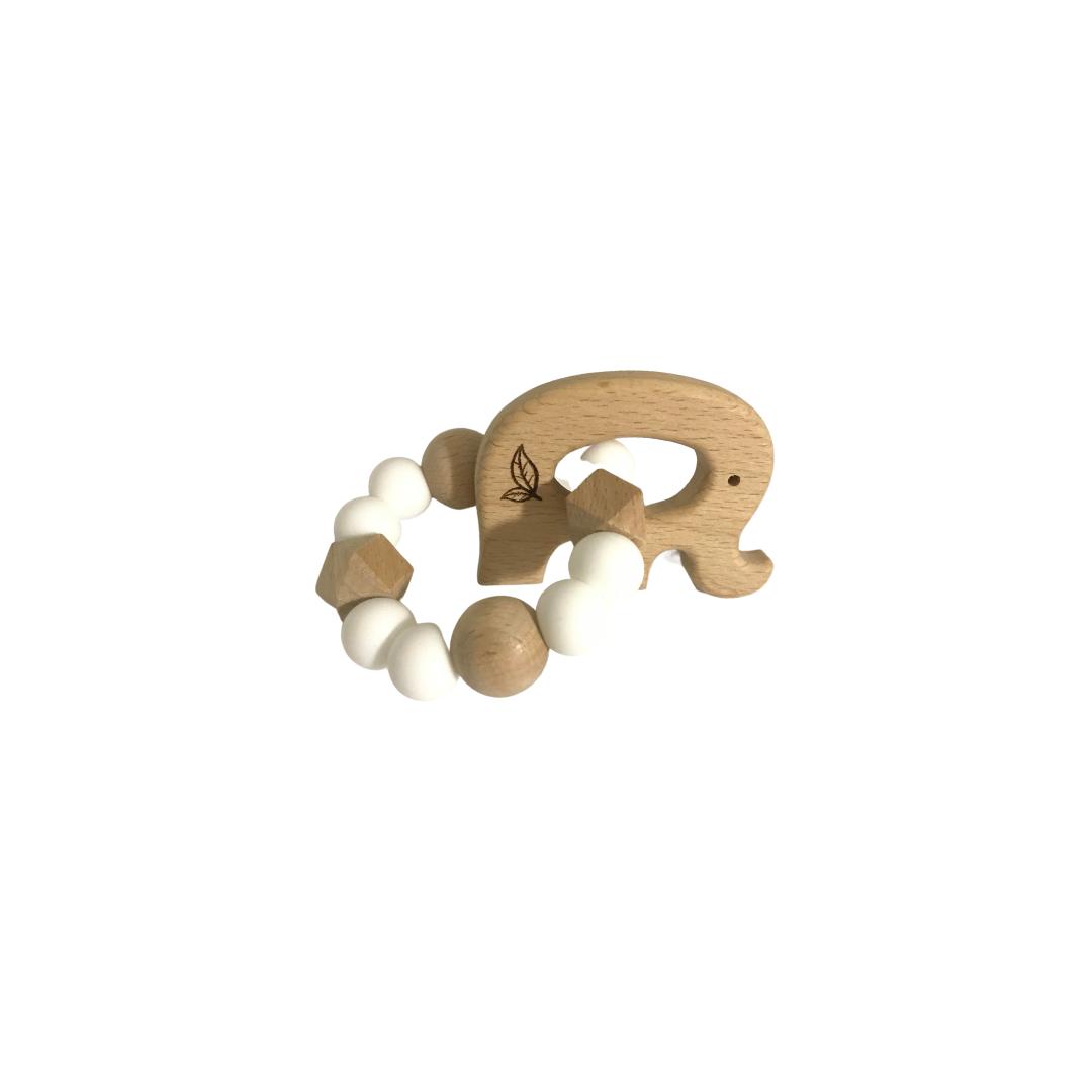motessori toys wood baby rattle