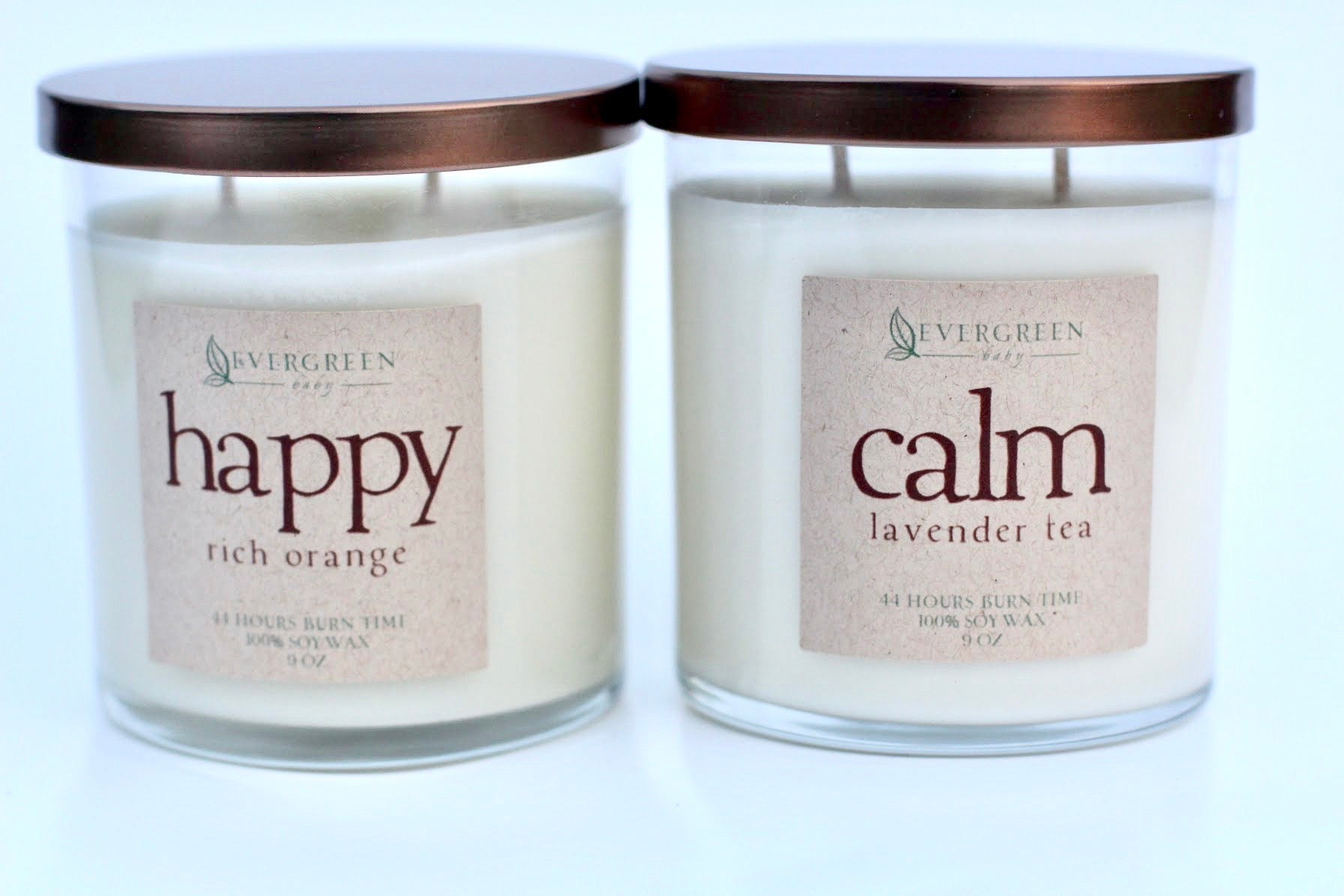 Double-Wick Soy Candle || CALM (Lavender Tea)