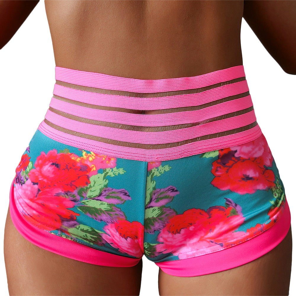 Floral Print Sport Shorts For Women