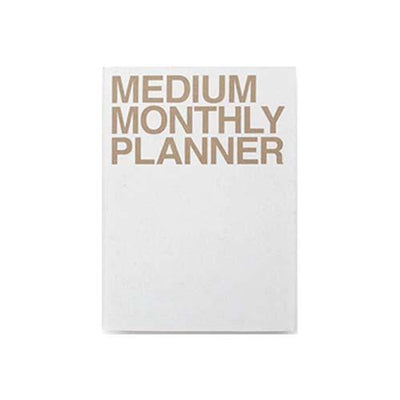 JStory - Medium Monthly Planner - White/Gold-Planner-DutchMills