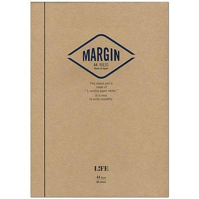 Life Stationery - Margin Report Pad A4 Lined - Navy-Notitieboek-DutchMills
