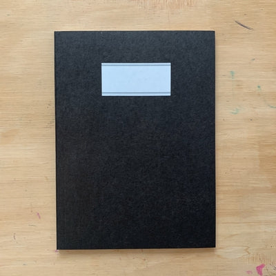 O-Check Design - Plain Notebook Medium - Black-Notitieboek-DutchMills
