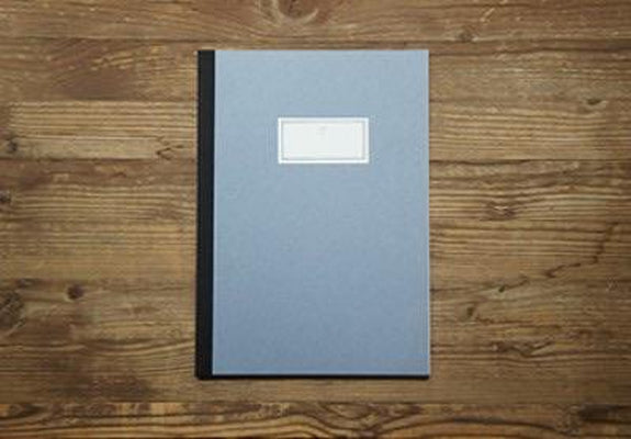 O-Check Design - Stitch Notebook Large - Sky-Notitieboek-DutchMills