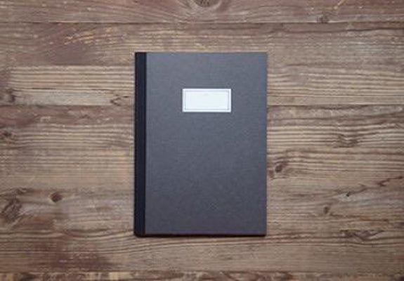 O-Check Design - Stitch Notebook Medium - Black-Notitieboek-DutchMills