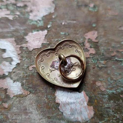 The Superior Labor - Brass Concho Heart-Charm-DutchMills