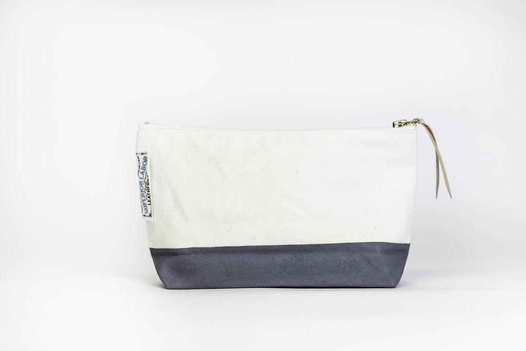 The Superior Labor - Cotton Canvas Pouch #02 - Dark Gray-Etui-DutchMills