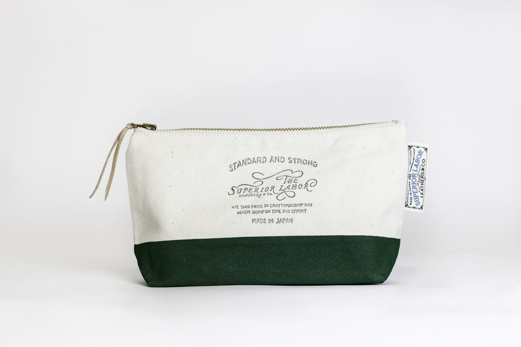 The Superior Labor - Cotton Canvas Pouch #02 - Green-Etui-DutchMills