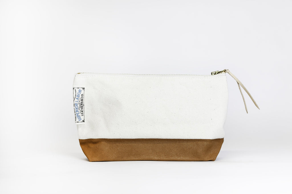 The Superior Labor - Cotton Canvas Pouch #02 - Light Khaki-Etui-DutchMills