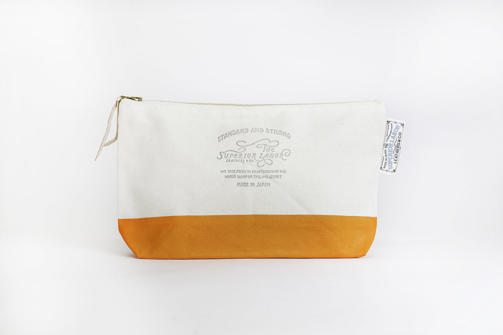 The Superior Labor - Cotton Canvas Pouch #03 - Orange-Etui-DutchMills
