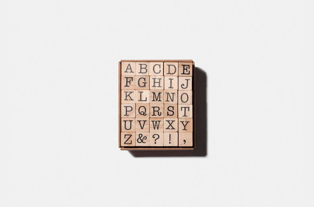 Tools to Liveby - Alphabet Stamp - Capital Letters-Stempel-DutchMills