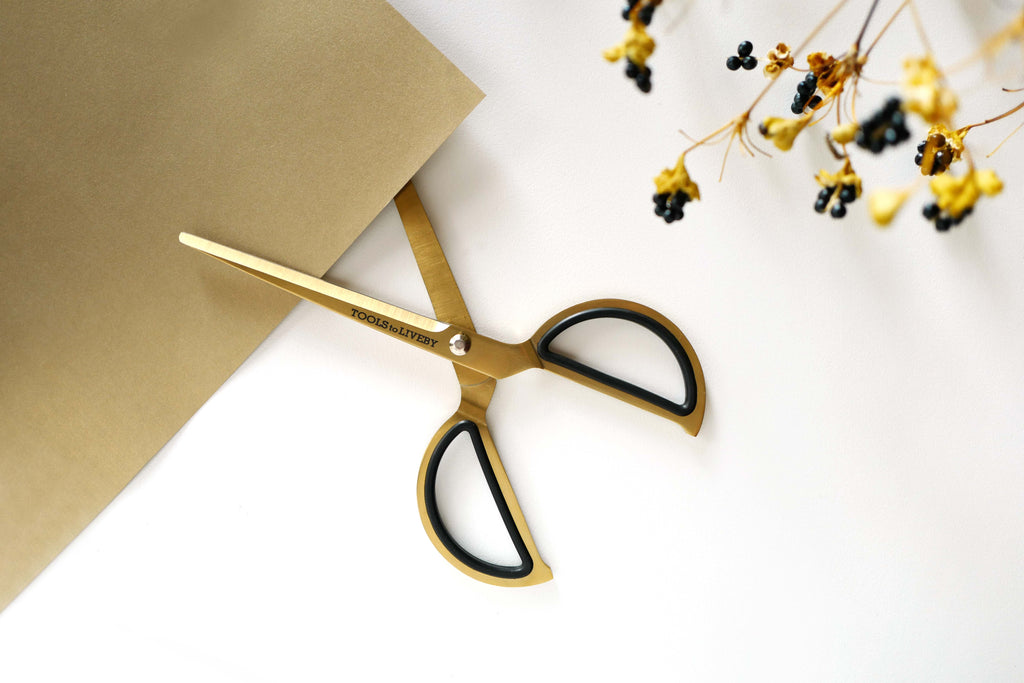 "Tools to Liveby - Scissors 8"" - Gold (schaar)-Schaar-DutchMills"