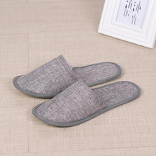 Load image into Gallery viewer, 2019 New Simple Unisex Slippers Hotel Travel Spa Portable Men Slippers Disposable Home Guest Indoor Cotton Fabric Men Slipper
