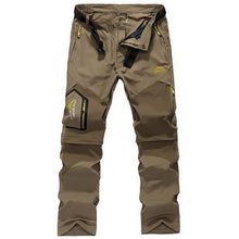 Load image into Gallery viewer, LOMAIYI Men's Cargo Pants Men Summer Breathable Quick Dry Trousers Male Casual Pants Mens Black/Khaki Zip-Off Pants Shorts AM002