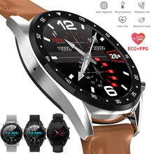 Load image into Gallery viewer, 2019 Newest PPG + ECG Smart Watch Men Full Round Touch Screen Bluetooth Call Ip68 Waterproof Strap Replaceable Smartwatch