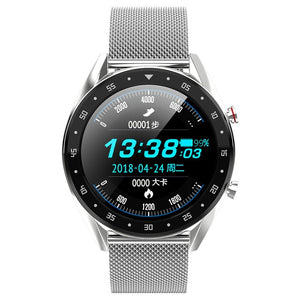 2019 Newest PPG + ECG Smart Watch Men Full Round Touch Screen Bluetooth Call Ip68 Waterproof Strap Replaceable Smartwatch