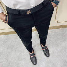 Load image into Gallery viewer, Pantalones Hombre Spring Summer 2020 New Pants Men Korean Slim Fit Men Casual Pants Streetwear Man Trousers Men Black Gray