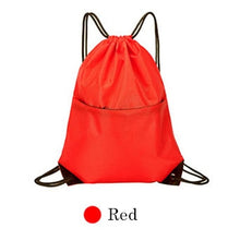 Load image into Gallery viewer, IKSNAIL Waterproof Zipper Gym Sport Fitness Bag Foldable Backpack Drawstring Shop Pocket Hiking Camping Pouch Beach Swimming Bag