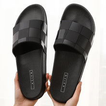 Load image into Gallery viewer, Luxury brand design Men Slippers Indoor Home Hotel Slippers Women Man bathroom Slides Summer House Shoes ladies Plus Size 46
