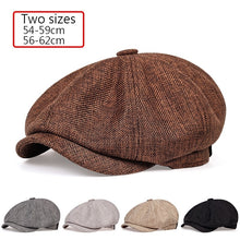 Load image into Gallery viewer, 2020 New men's casual newsboy hat spring and autumn retro beret hat wild casual hats unisex wild octagonal cap