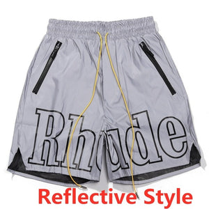 19SS RHUDE Rhude X Patron New Version Shorts Men Summer RHUDE Mesh Swimming Trunk 3 Options Unisex Zipper Drawstring Short