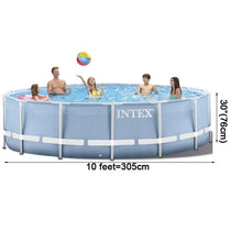 Load image into Gallery viewer, INTEX 305*76 cm Round Frame Above Ground Pool Set 2019 model Pond Family Swimming Pool Filter Pump metal frame structure pool