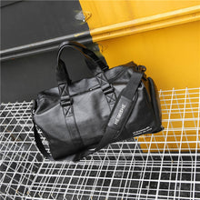 Load image into Gallery viewer, Gym Bag Leather Sports Lady Bags Big MenTraining Tas for Shoes   Fitness Yoga Travel Luggage Shoulder Black Sac De Sport