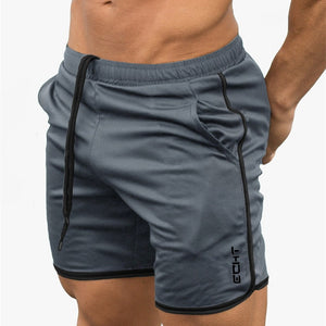 2019 Summer Mesh Breathable Gyms Sporting Shorts Men Men's Short Homme Casual Brand Clothing Letter Elastic Waist Gyms Shorts