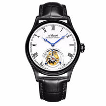 Load image into Gallery viewer, New 100% Original Luxury Tourbillon Watch Mens Mechanical Watches Top Brand Classic White Leather Watch Relogio Masculino 7021