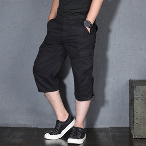 MRMT 2020 Brand Summer Men's Thin  Seven-point Pants Casual Middle-aged Pants Short Pants for Male 7-point Pants