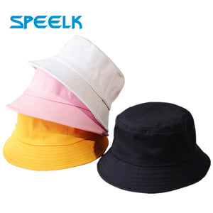 New Unisex Cotton Bucket Hats Women Summer Sunscreen Panama Hat Men Pure Color Sunbonnet Fedoras Outdoor Fisherman Hat Beach Cap