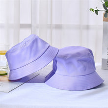Load image into Gallery viewer, New Unisex Cotton Bucket Hats Women Summer Sunscreen Panama Hat Men Pure Color Sunbonnet Fedoras Outdoor Fisherman Hat Beach Cap