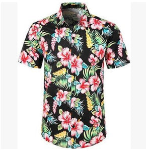 5 Style men's Hawaiian Beach Shirt Floral Fruit Print Shirts Tops Casual Short Sleeve Summer Holiday Vacation Fashion Plus size